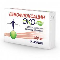 Левофлоксацин Эколевид, табл. п/о пленочной 500 мг №5